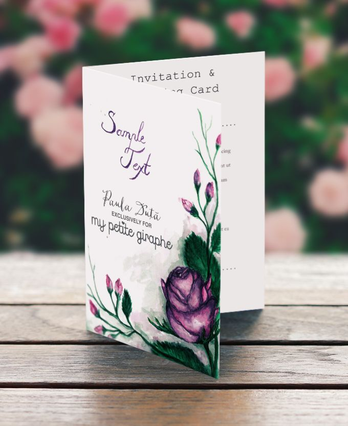 Floral Custom Made Wedding Invitation #handmade #craft #stationery #wedding #floral #sweet #art #paint #watercolor Order: mypetitegiraphe@gmail.com www.facebook.com/MyPetiteGiraphe