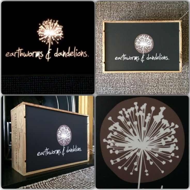 Custom lightbox sign made from an old wine crate and back lit.