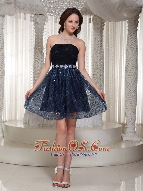 Wholesale Sequin Sexy A-line Homecoming Dress With Beading Strapless- $98.79  http://www.fashionos.com  http://www.facebook.com/quinceaneradress.fashionos.us  This strapless close-fitting pleated bodice with a delicate bead waistband accents, the dropped sequince skirt wraps the bottom, which emphasizes your sexy figure. The half open and a zipper up back continue t make the already sexy dress more alluring. It is a wonderful dress, so elegant, so stylish–perfect for any occasion!