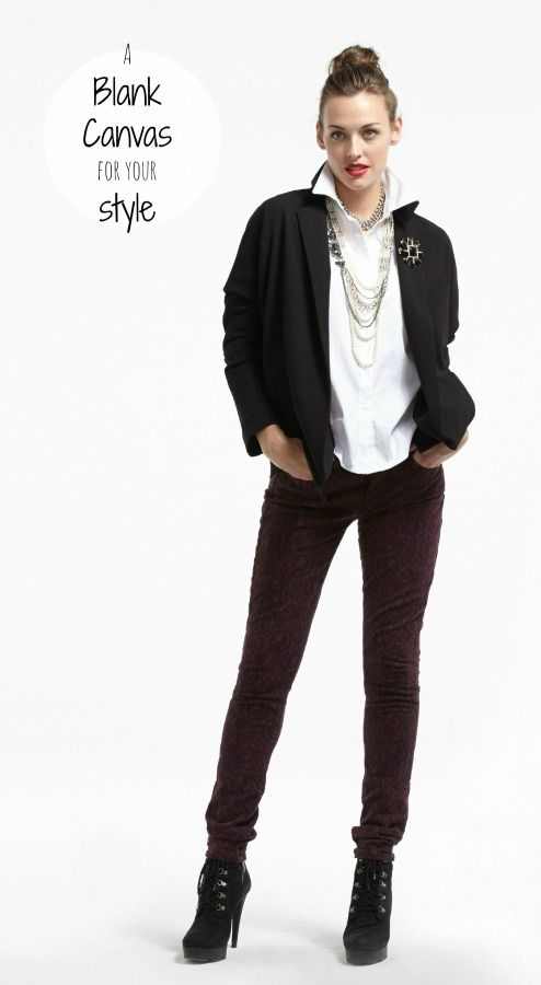 The Plum White Button Up Shirt is a blank canvas for your style.