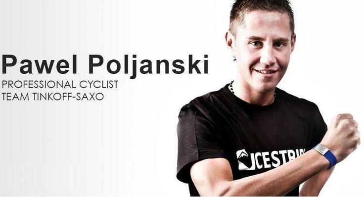 Tinkoff-Saxo cyclist, Pawel Poljanski never go on his training wihout his ICEstripe wristband