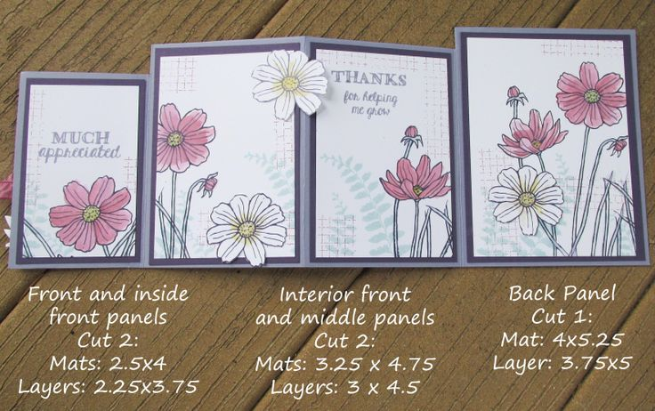 cardmaking Photo Tutorial: Easy Four-Fold Card ... last photo of Lyssa Z's tutorial ... complete on her blog ... free ... Stampin' Up! supplies ...