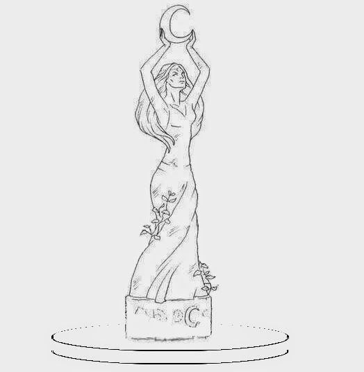 Goblins and Fairys: News!News!News! Here the sketch of a New Goddess Altar Statue!