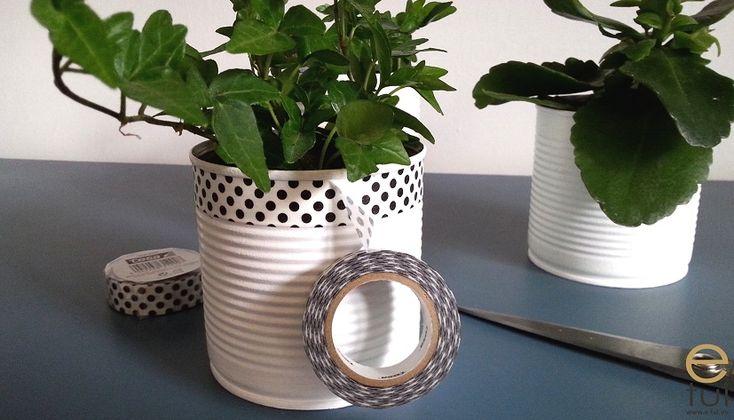 Doniczki z puszek - prosty sposób by wykorzystać śmieci