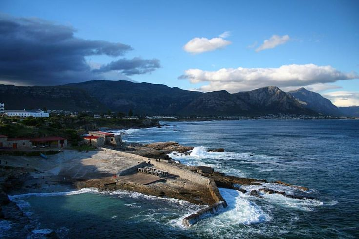 The old harbour in Hermanus, Western Cape, South Africa