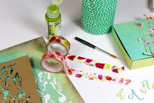 Bible Art Journaling Oktober-Kit-Früchtekorb  Journaling-Kit mit Acrylfarbe, zuckersüssem Pinsel und allerlei Buchstaben