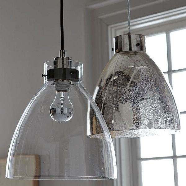 Industrial pendant lights The one that looks like mercury glass ♥