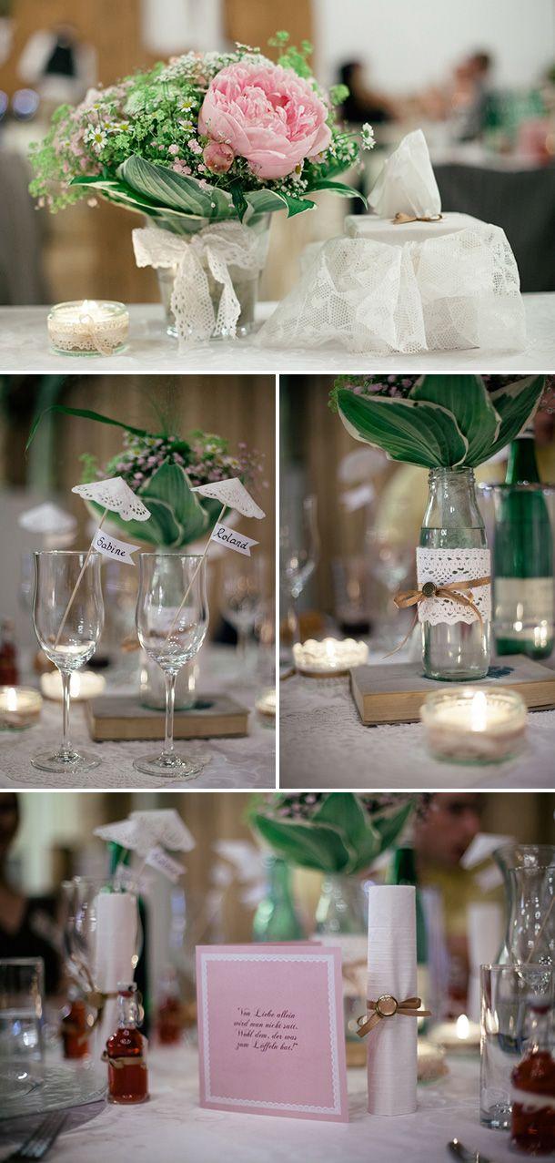 Vintage Hochzeit: schöne Blumendeko