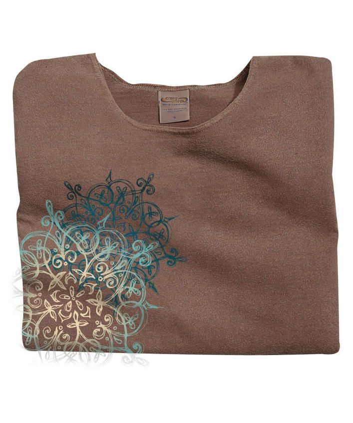 Hennalicious - Chocolate-Dyed Scoop-Neck T-Shirt