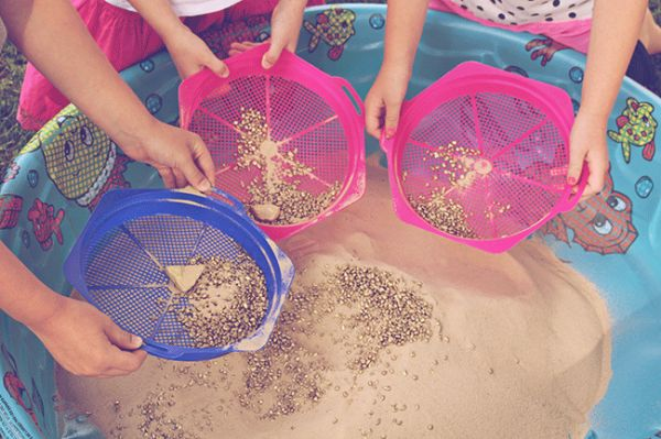 Panning for gold! So fun for kids!