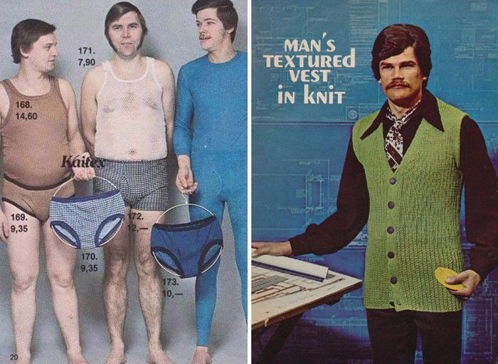 33 reklamy mody męskiej z lat 70-tych, których już nie odzobaczysz.