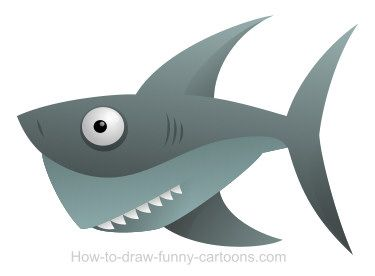 Finally! A cartoon shark that doesn't want to take a bit of you!
