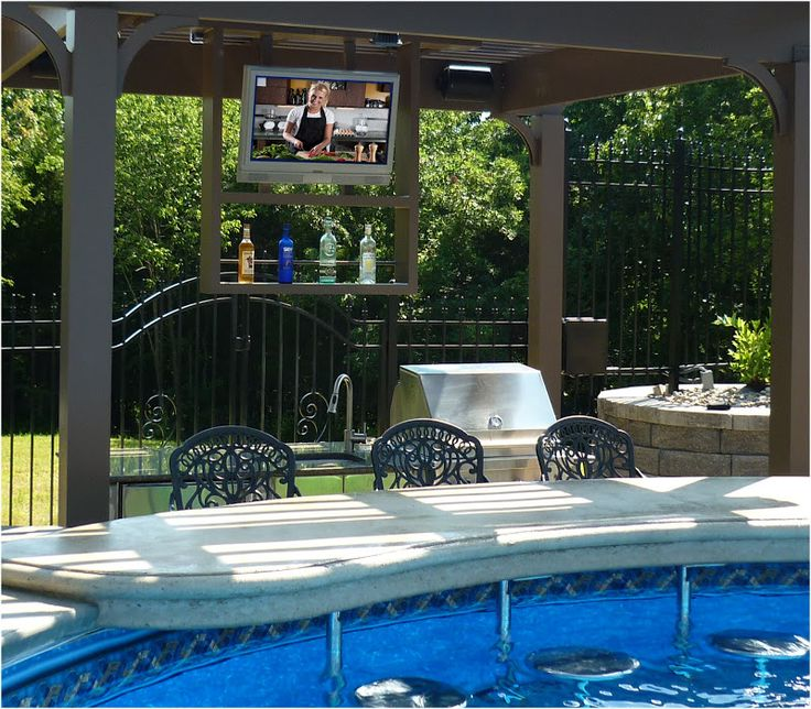166 Best Outdoor Patio Pool Images On Pinterest: 23 Best Pergola With Fireplace Images On Pinterest