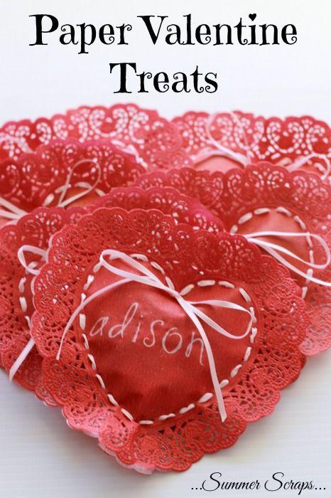 Paper Valentine Treat | via Summer Scraps