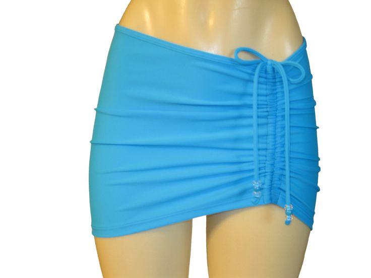 """Jupe courte """"Drawstrings"""", paréo, couvre-maillot de plage, mini jupe, couvre-bikini. de la boutique atelierPATH sur Etsy"""