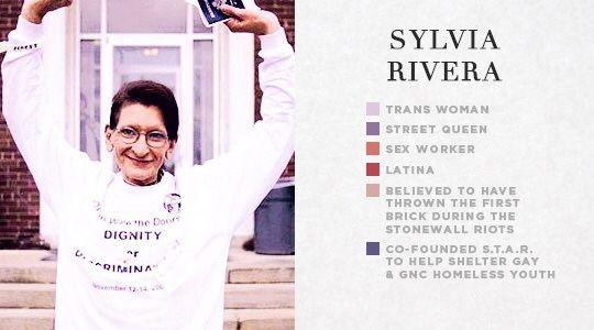 Sylvia Rivera #Stonewall
