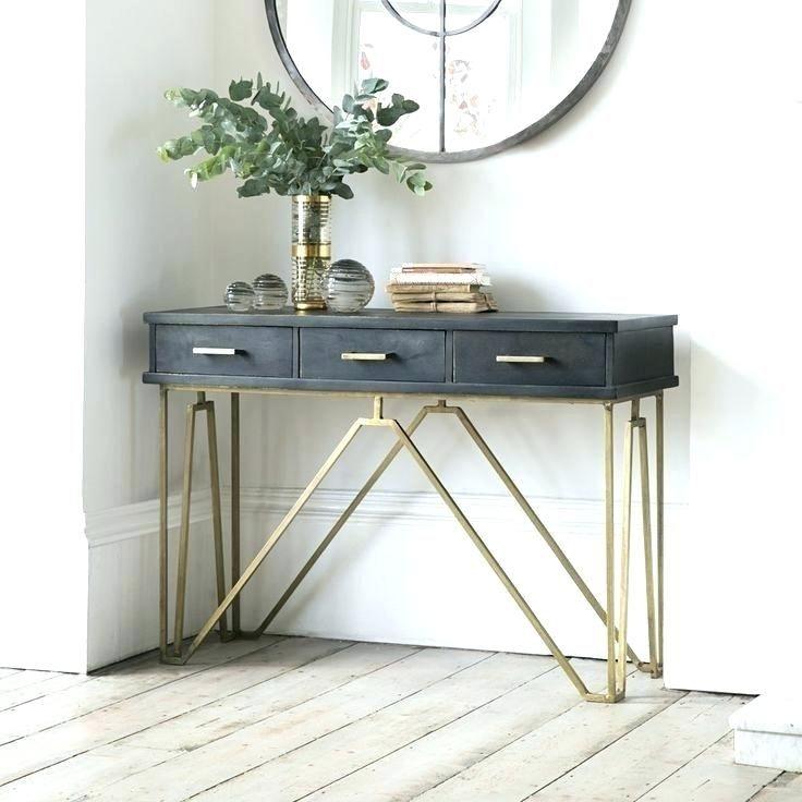 Small Narrow Table Hall Best Console Tables Ideas On Regarding