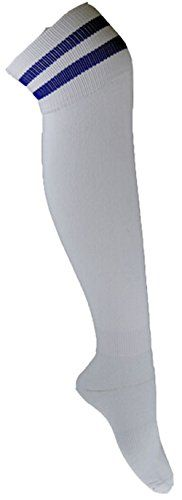 Freedi Womens Mens Cotton Knee Length High Football Socks Stockings Made by #Freedi Color #White. High elasticity socks,soft and breathable. It gives you a better looking curved body. Knee high socks. Material:combed cotton<br> Size:free<br> socks height:45cm<br> feet length:23-30cm<br> suitable for feet:size 39-43<br> gender:womens/mens. Hand wash cold.Do not bleach.Hang dry