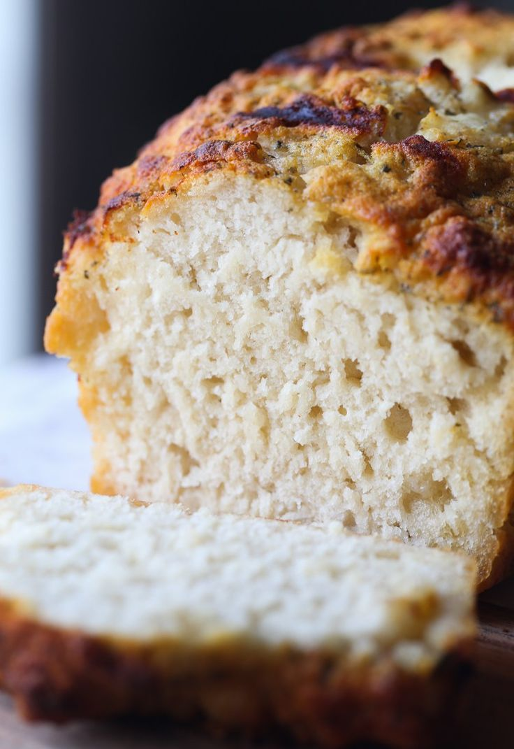 Ranch Beer Bread.. so quick and easy with a crunchy buttery crust flavored with ranch seasoning! from @cookiesandcups