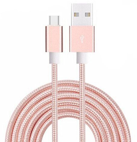 ONX3 Rose Gold Premium Quality 2 Meter Micro USB Cable Nylon Braided With High Speed Charging and Data Transfer for Samsung Galaxy S7 mini >>> Check this awesome product by going to the link at the image.