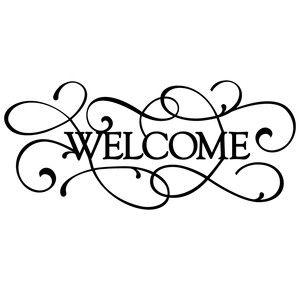 Silhouette Design Store: flourish word - welcome