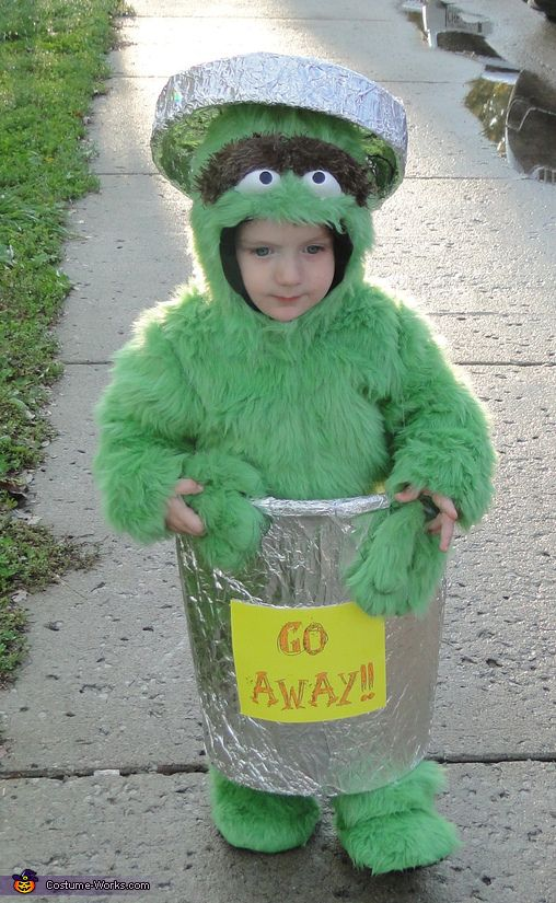 Oscar The Grouch - Homemade Halloween Costume