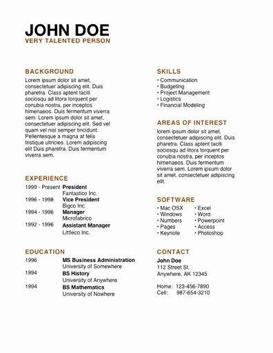 Apple 3-Resume Templates Cv template, Resume, Resume templates