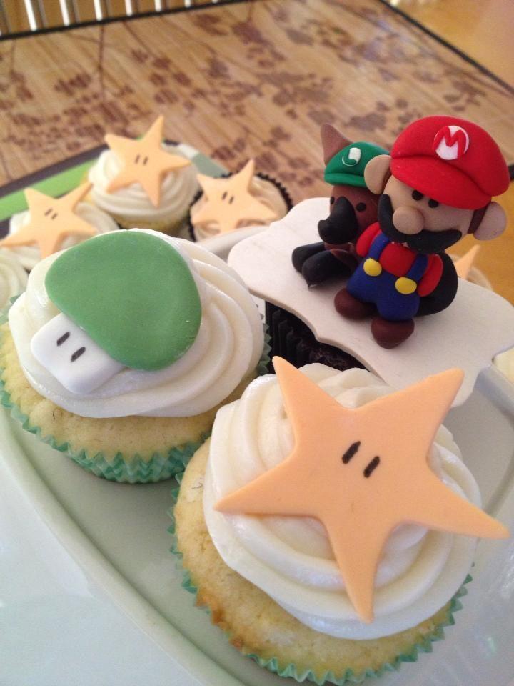 #SuperMario #CakeTopper and cupcakes  #Geek #Deeconstructed #whiskuponastar