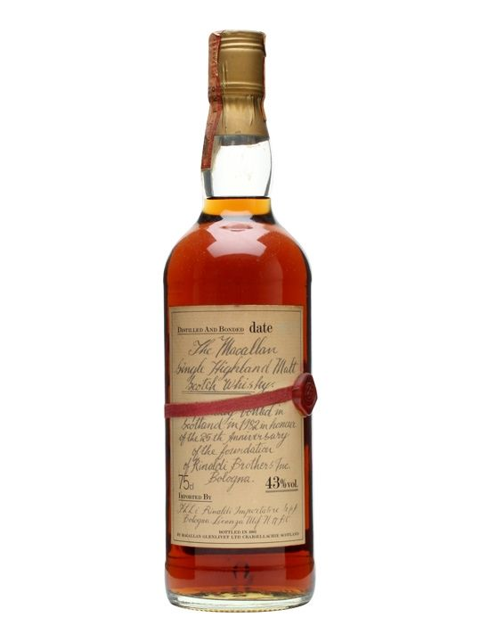 Macallan 1957 / 25 Year Old / 25th Anniv. Rinaldi Scotch Whisky : The Whisky Exchange