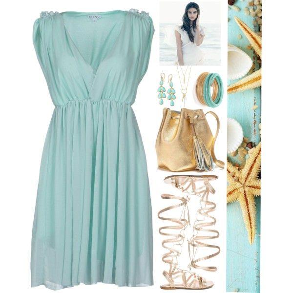 Pale Aqua Blue Dress