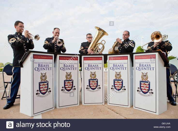 Download this stock image: The United States Army Brass Quintet  - Washington, DC USA - G61JAA from Alamy's library of millions of high resolution stock photos, illustrations and vectors.
