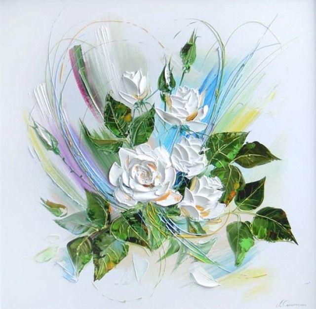 Lyudmila Scripcenco - Trandafiri albi