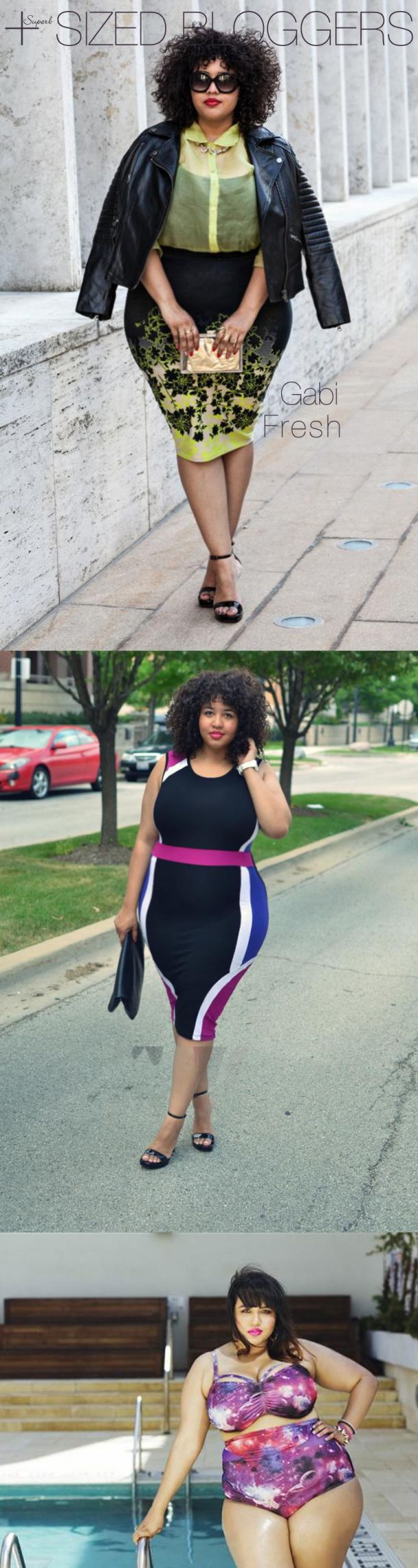 gabi-fresh best plus sized fashion bloggers.... plus size fashion does not have to be boring !!