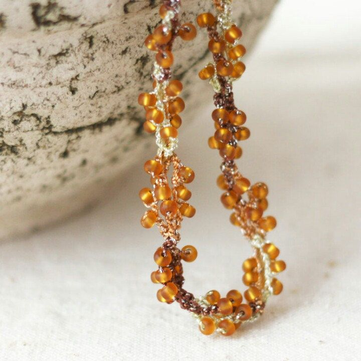Enjoy the sun. I'm in love with these topaz colored glass beads