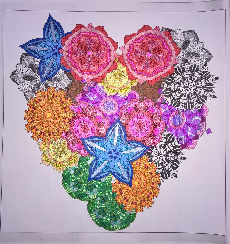 Heart   #colouringbooks #colouringforadults #adultcolouring #adultcoloring #stressfree #relaxing #blending