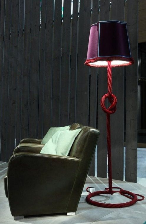 The Abatjour retro floor lamps are by Italian company Baxter
