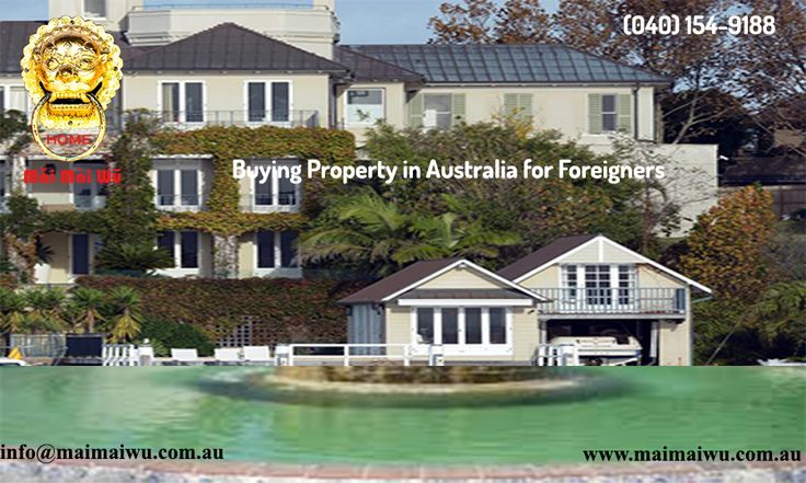 Homes or investment properties for overseas investors are created easier. It's very little surprise foreigners realize our property market, thus enticing. A short guide to purchasing property in Australia for expats. Buying Property in Australia For Foreigners,apartments for rent in australia sydney.