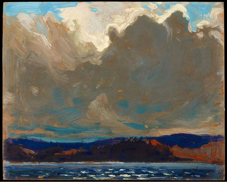 Tom Thomson Approaching Storm, Dog Point, 1914 Oil on Wood