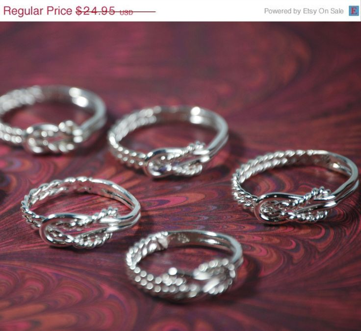 ON SALE Bridesmaid Ring - Bridesmaid Jewelry - Wedding Party - Wedding Jewelry - Maid of Honor Gift - Infinity Ring - Bridesmaid Gift Idea. $19.96, via Etsy.