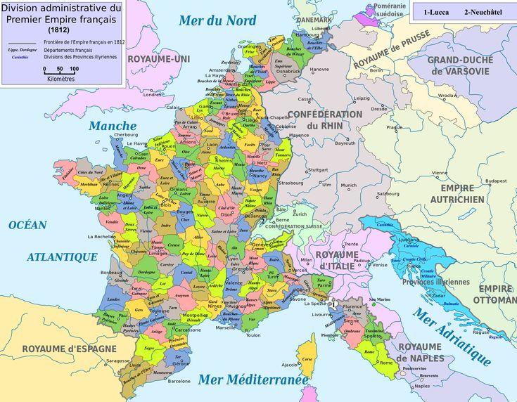 La organización territorial en la España del XIX : el dominio napoleónico / @geoinfinita   #socialgeo