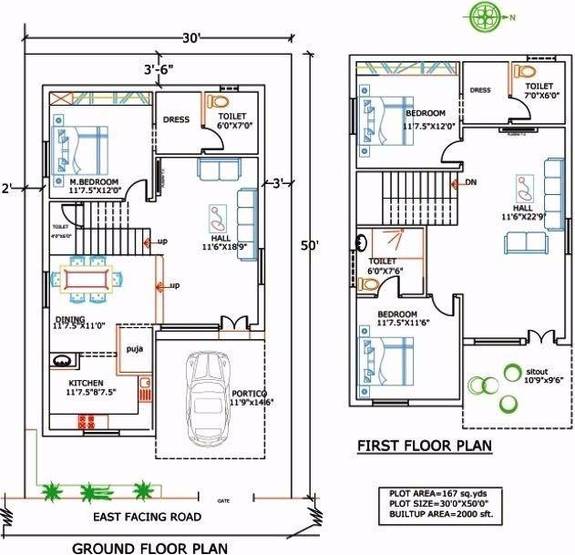 1400 Sqduare Foot House Plans Fresh 1400 Sq Ft House Plans In India Luxury 1500 Sq Ft Floor Plans Of 14 20x30 House Plans Duplex House Plans Duplex Floor Plans