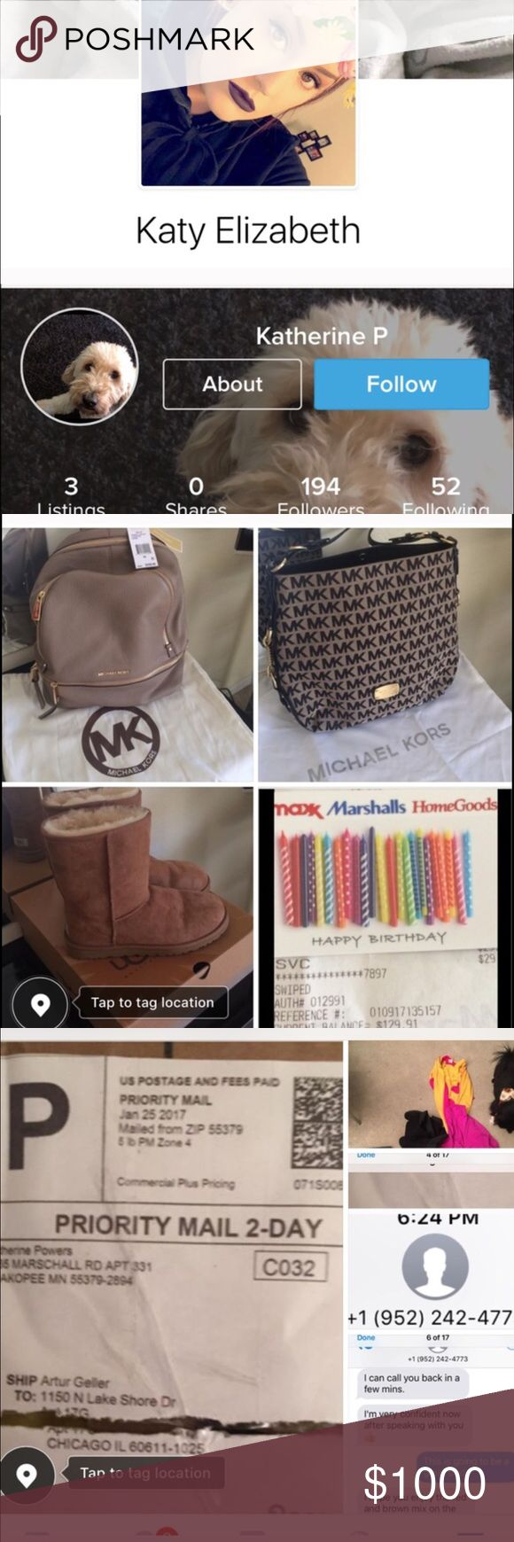 ✔️SCAMMER WORTHLESS PIECE OF💩 I hate worthless SCAMMERS esp a girl with an New baby🙄 hopeful the child doesn't grow up like his NOTHING azz momma scamming ppl she supposedly sent an 2,000 Lou bag for 2 MK one pair of UGG and and home goods gift card!... she doesn't even have a home😂🙄 but I've never heard of such TRADE does that make sense to any of you all 😂😜🤔 that last pic is wat her OLD friend had to say about her💯 Louis Vuitton Bags Crossbody Bags