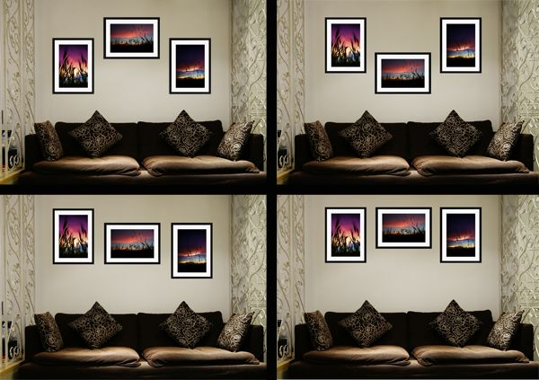 Hanging A Group Of 3 Pictures Couples Amp Engagements