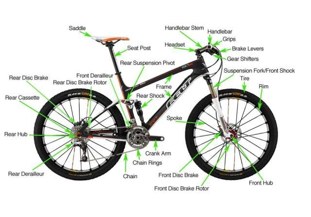 Just Sharing Anatomy Of Mountain Bike Parts Components