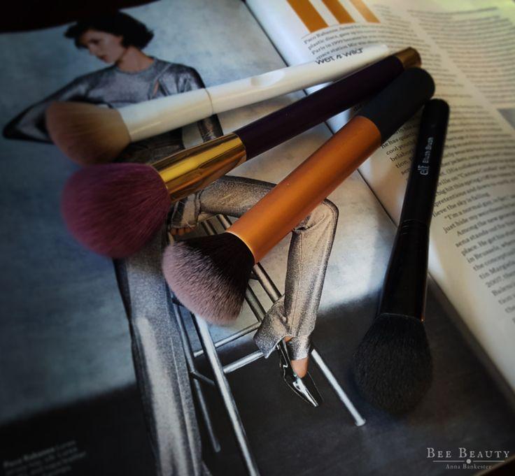Wet N Wild Contour Brush. Sonia Kashuk Blush Brush. Real Techniques buffing brush. e.l.f. Blush Brush