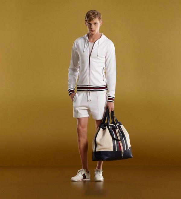 Gucci mens hooded sweater felted toweling shorts t-shirt