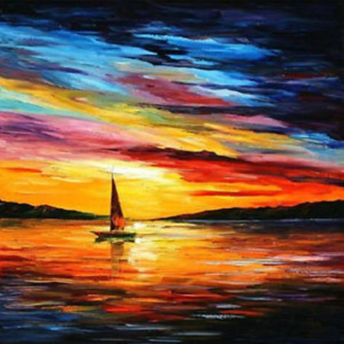 """Beautiful Hand-painted Landscape Oil Painting Seascape 24""""x20"""" /NO Frame"""