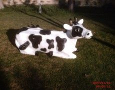 Reclining Cow Statue