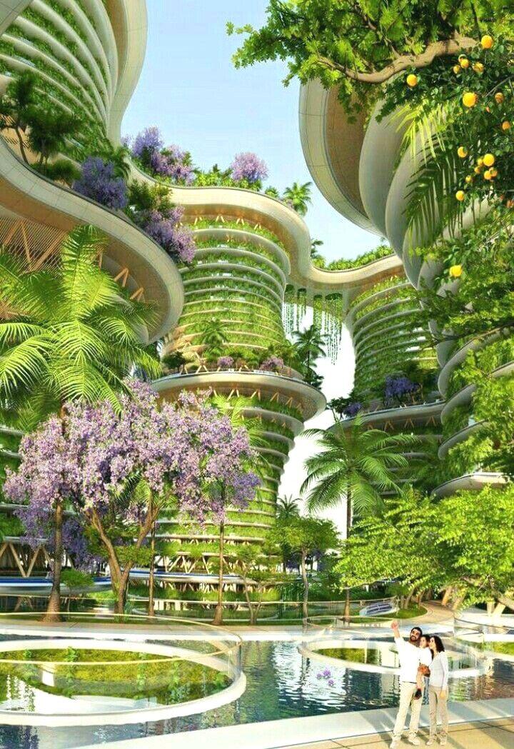 Stunning Futuristic Structure and Positive Concepts. Graphics. #design #architectur…