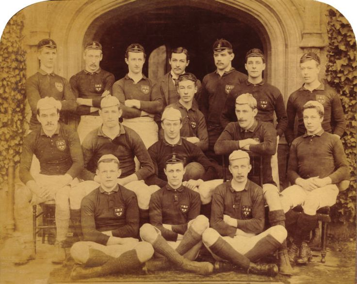 Former Shipley MP Percy Holden Illingworth (centre row, third from left) playing rugby for his college at Cambridge in 1889
